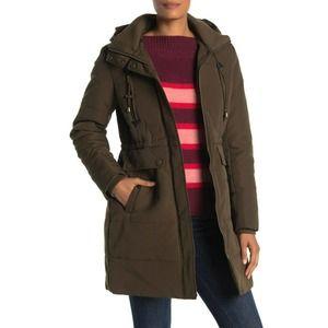 Lucky Brand Missy Faux Fur Hooded Parka Jacket